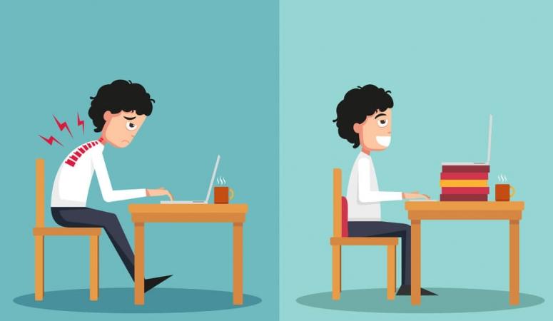 Fique atento à sua postura no trabalho