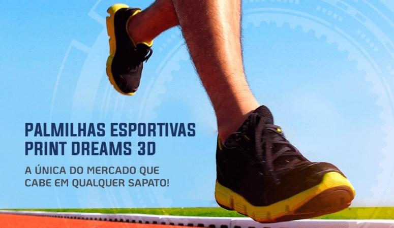 Palmilhas em 3D - Esportivas e corretivas.
