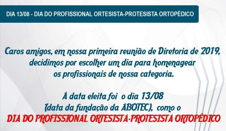 Dia do profissional Ortesista-Protesista Ortopédico