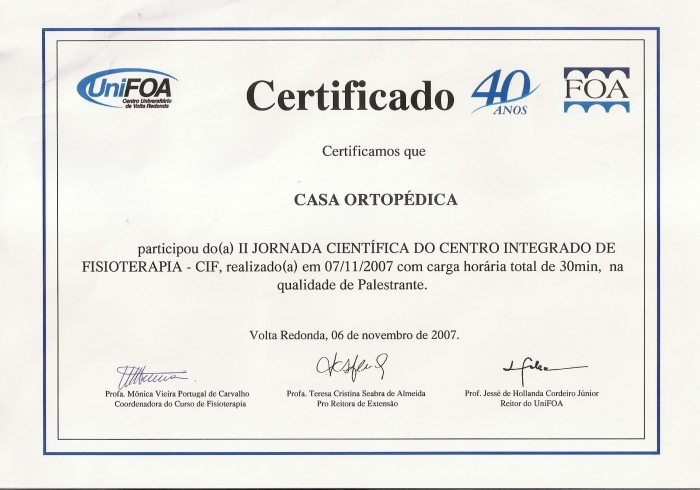 Certificado UniFOA
