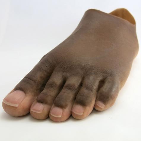 Prótese pé total  em silicone - amputação Lisfrank