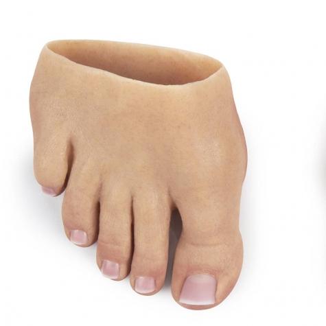 Prótese Parcial de pé em silicone  - amputação transmetatarsal